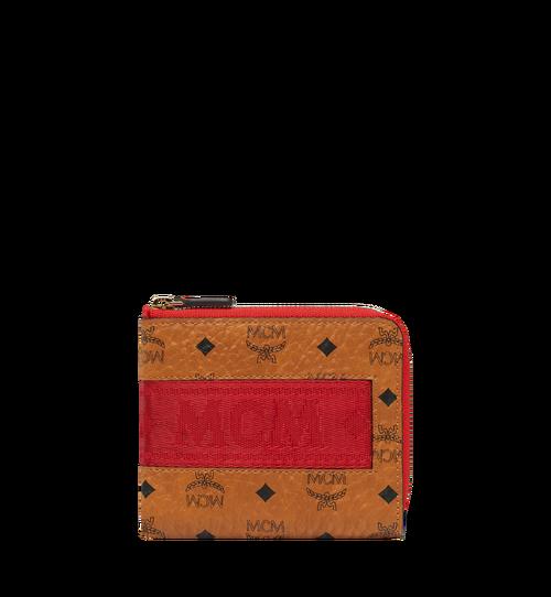 Abgerundete Reissverschluss-Brieftasche in Webbing Visetos