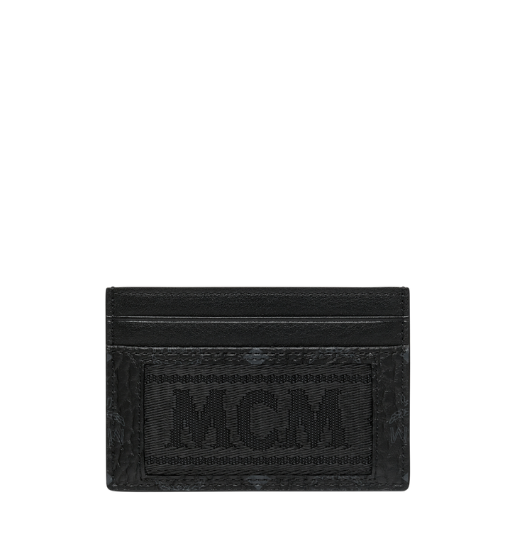 MCM Porte-cartes en Webbing Visetos Black MXA9SVI92BK001 Alternate View 1