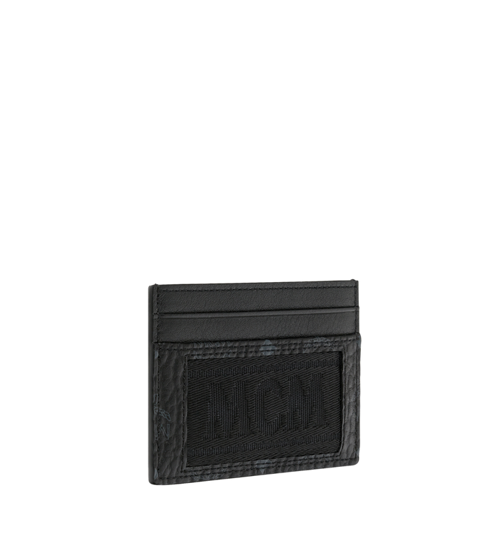 MCM Porte-cartes en Webbing Visetos Black MXA9SVI92BK001 Alternate View 2