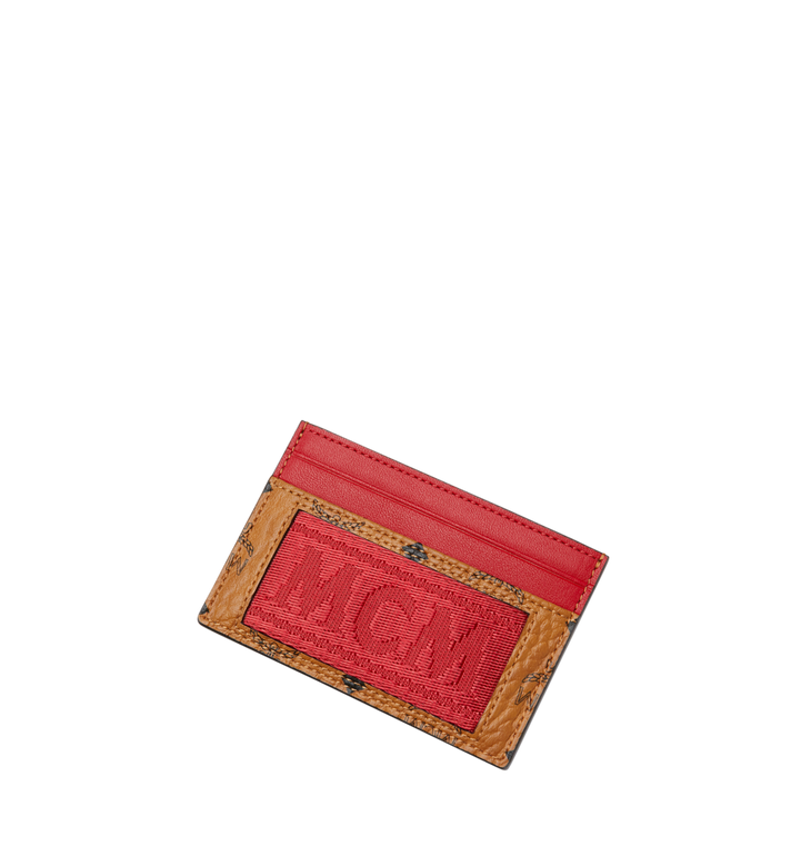 MCM Card Case in Webbing Visetos Alternate View 4