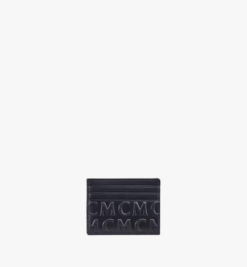 Porte-cartes en cuir monogrammé MCM