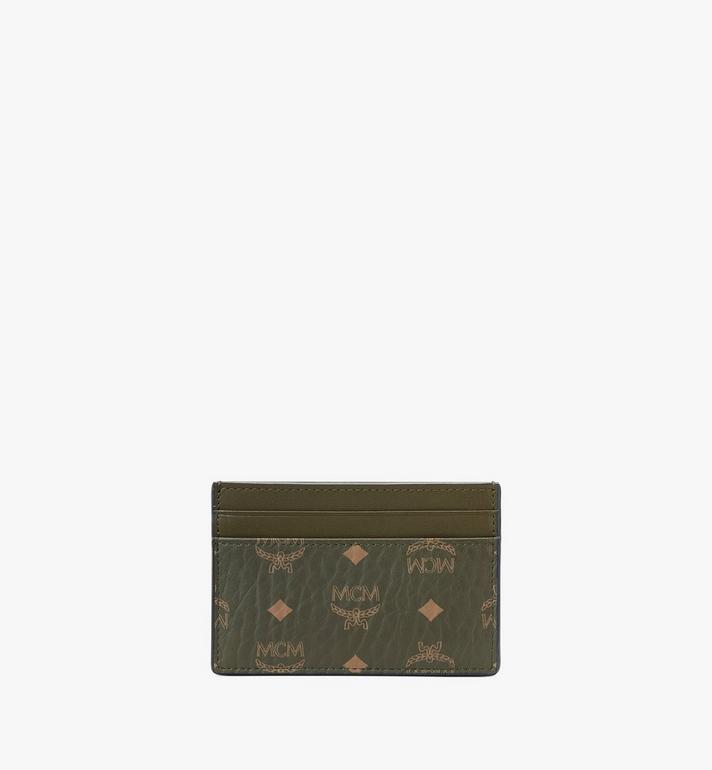 MCM Card Case in Visetos Original Green MXAAAVI01JH001 Alternate View 3