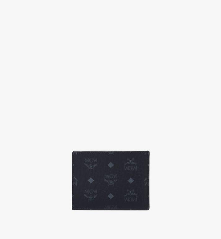 MCM Card Case in Visetos Original Black MXAAAVI02BK001 Alternate View 3