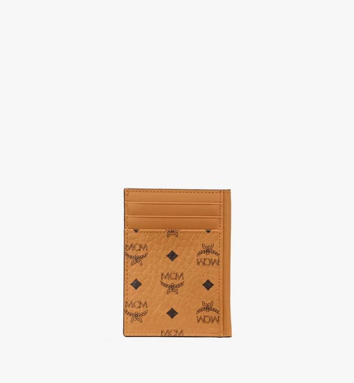 MCM Porte-cartes en Visetos Original Cognac MXAAAVI03CO001 Alternate View 3