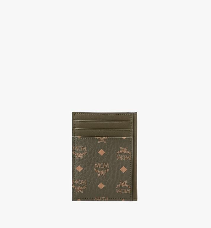 MCM N/S Card Case in Visetos Original Green MXAAAVI03JH001 Alternate View 3