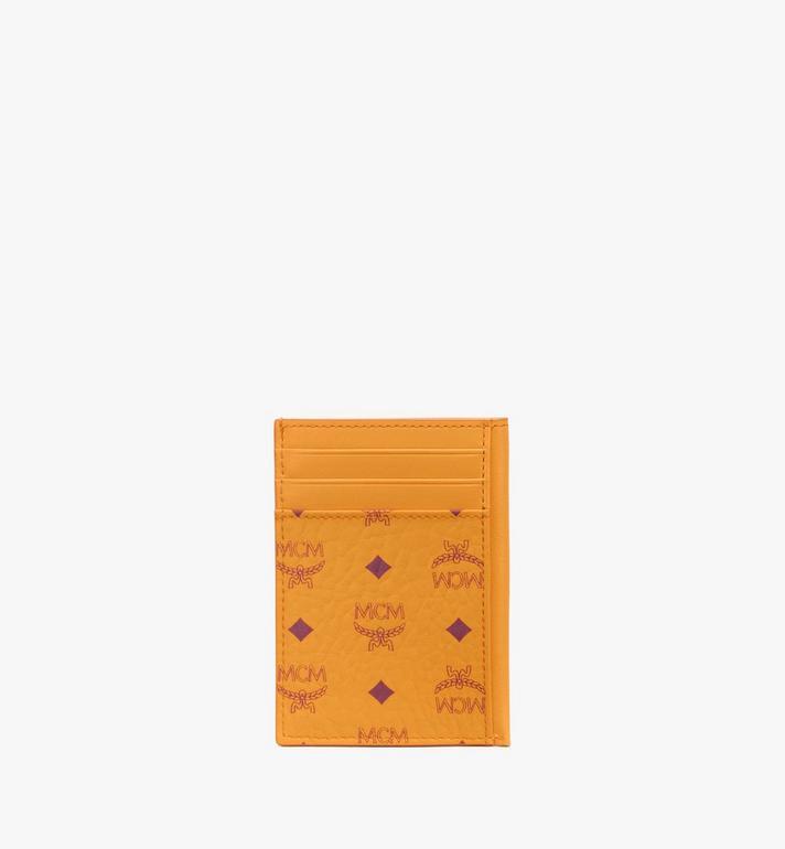 MCM N/S Card Case in Visetos Original Gold MXAAAVI03O5001 Alternate View 3