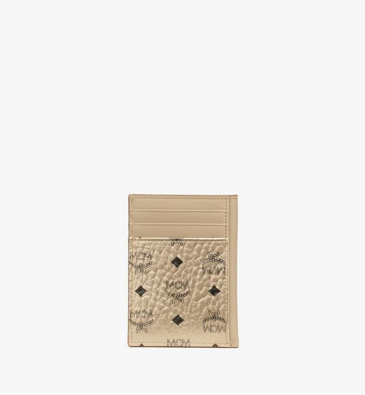 MCM N/S Card Case in Visetos Original Cognac MXAAAVI03T1001 Alternate View 3