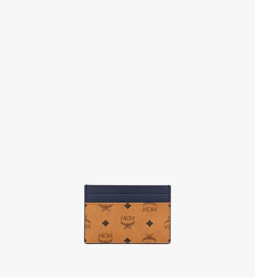 กระเป๋าใส่บัตรลาย Visetos สีคัลเลอร์บล็อก
