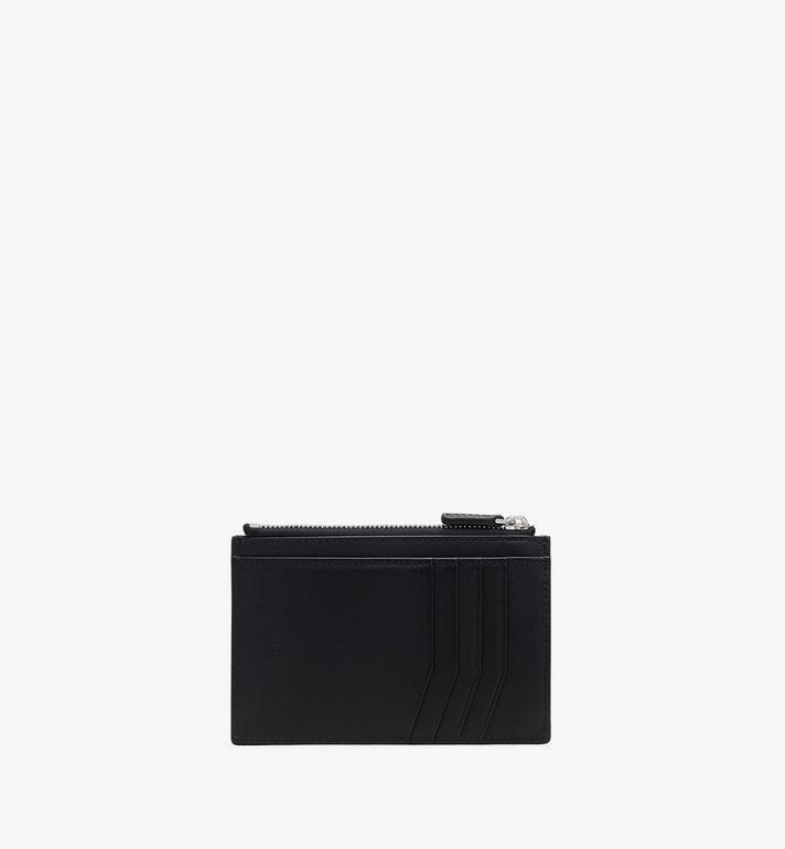MCM Porte-cartes en cuir clouté à imprimé léopard Black MXAASLF02BK001 Alternate View 2
