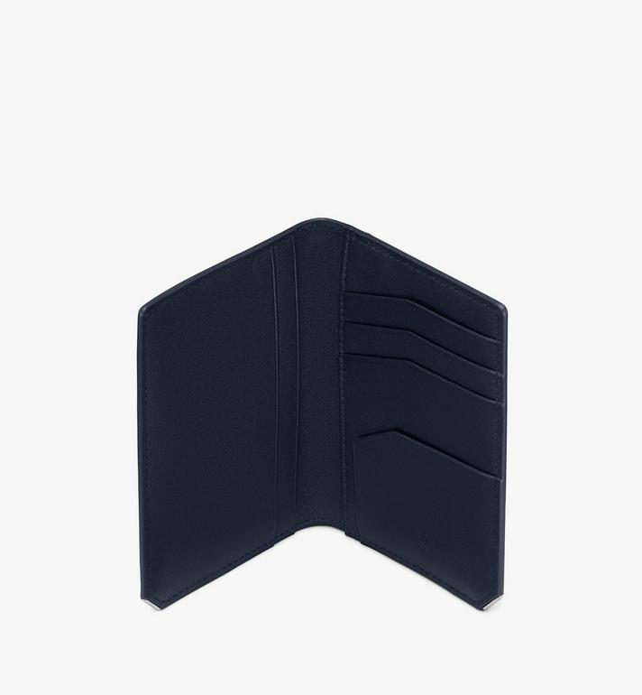 MCM New Bric Bifold Card Wallet Navy MXAASLL03VY001 Alternate View 3