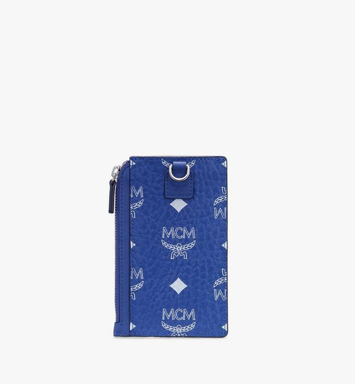 MCM Porte-cartes à cordon à imprimé Visetos Blue MXAASVI02H1001 Alternate View 2