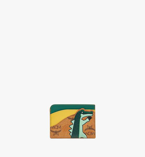 MCM Zoo Crocodile Card Case in Visetos Leather Mix