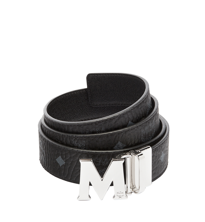 "MCM Claus M Reversible Belt 1.5"" in Visetos Black MXB6AVI02BK001 Alternate View 1"