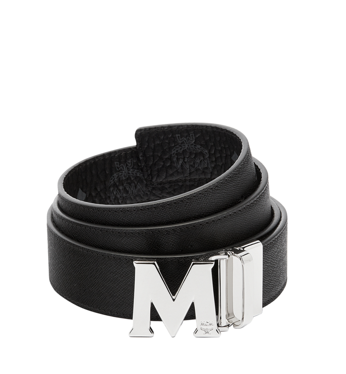 MCM Claus M Reversible Belt 3.8 cm in Visetos Black MXB6AVI02BK001 Alternate View 2