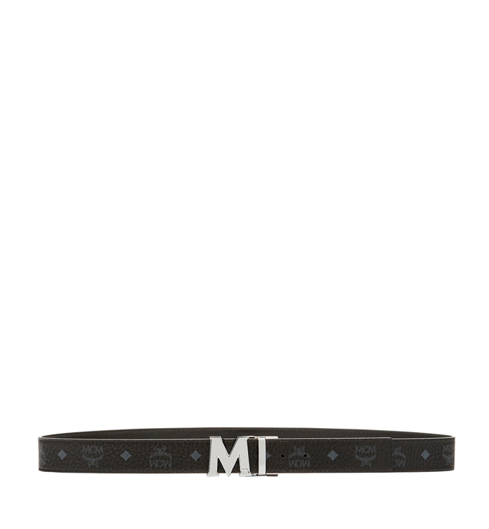 MCM Claus M Reversible Belt 3.8 cm in Visetos Black MXB6AVI02BK001 Alternate View 3