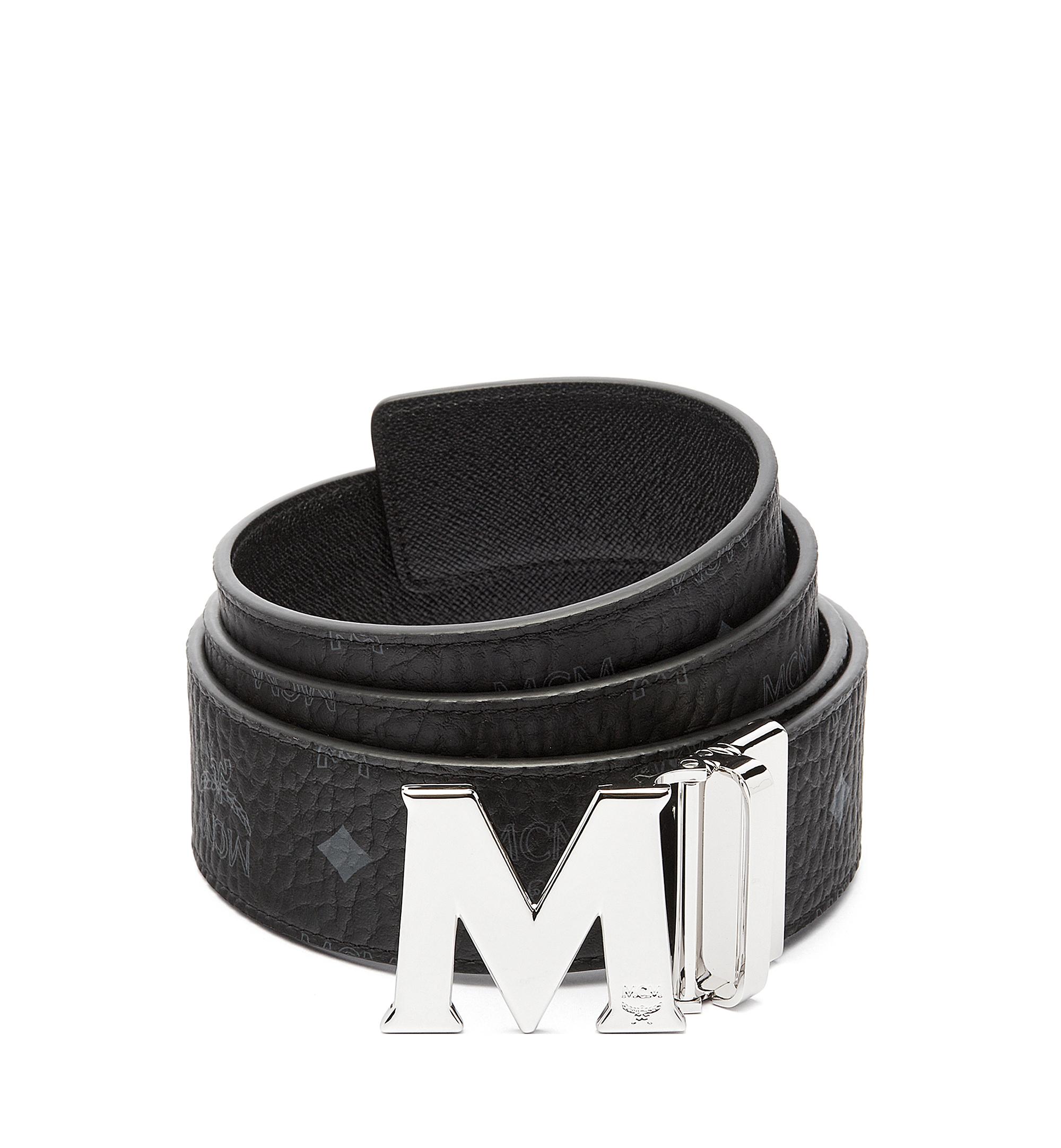 MCM Claus M Reversible Belt 4.5 cm in Visetos Black MXB6AVI03BK001 Alternate View 1