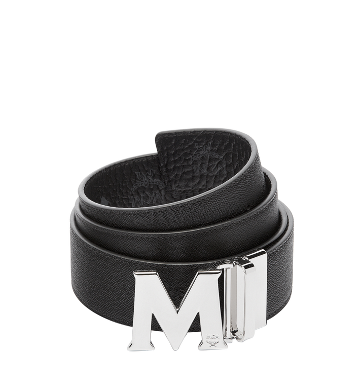 MCM Claus M Reversible Belt 4.5 cm in Visetos Black MXB6AVI03BK001 Alternate View 2