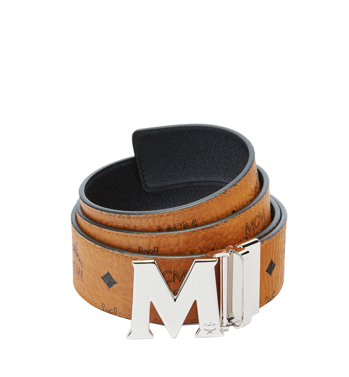"MCM Claus M Reversible Belt 1.75"" in Visetos Cognac MXB6AVI03CO001 Alternate View 1"