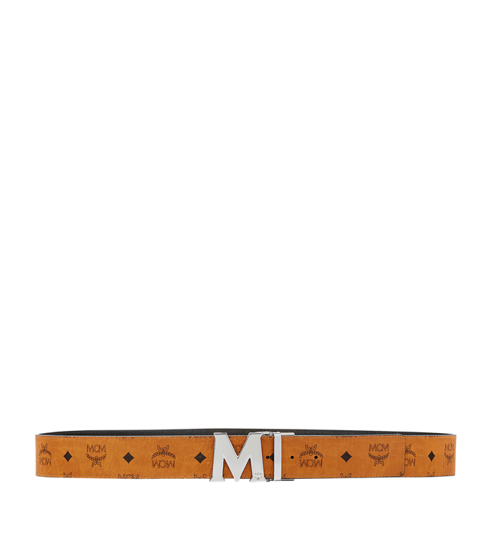 "MCM Claus M Reversible Belt 1.75"" in Visetos Cognac MXB6AVI03CO001 Alternate View 3"