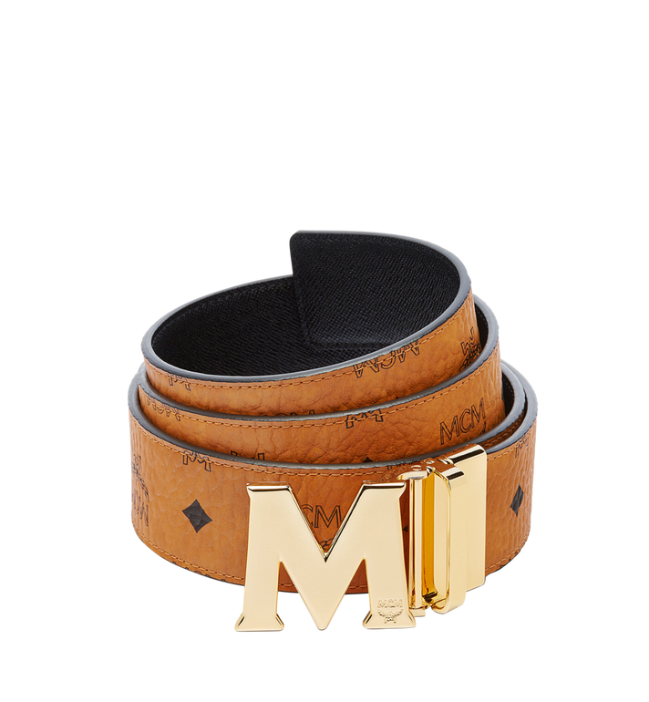 "MCM Claus M Reversible Belt 1.75"" in Visetos Cognac MXB6AVI04CO001 Alternate View 1"