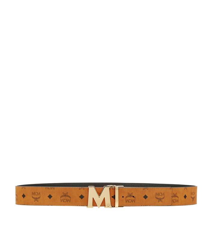 "MCM Claus M Reversible Belt 1.75"" in Visetos Cognac MXB6AVI04CO001 Alternate View 3"
