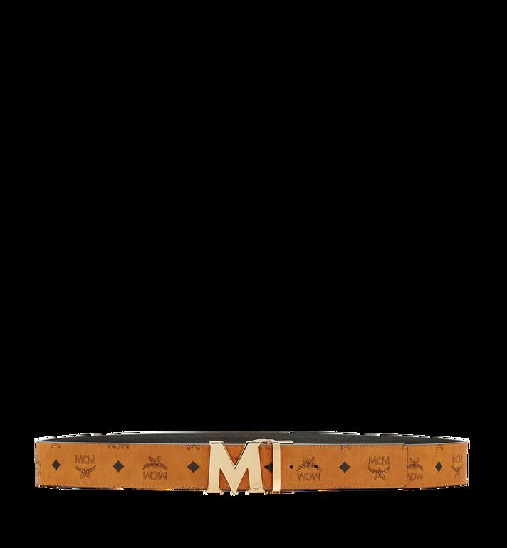 MCM Claus M Reversible Belt 4.5 cm in Visetos Cognac MXB6AVI04CO001 Alternate View 3