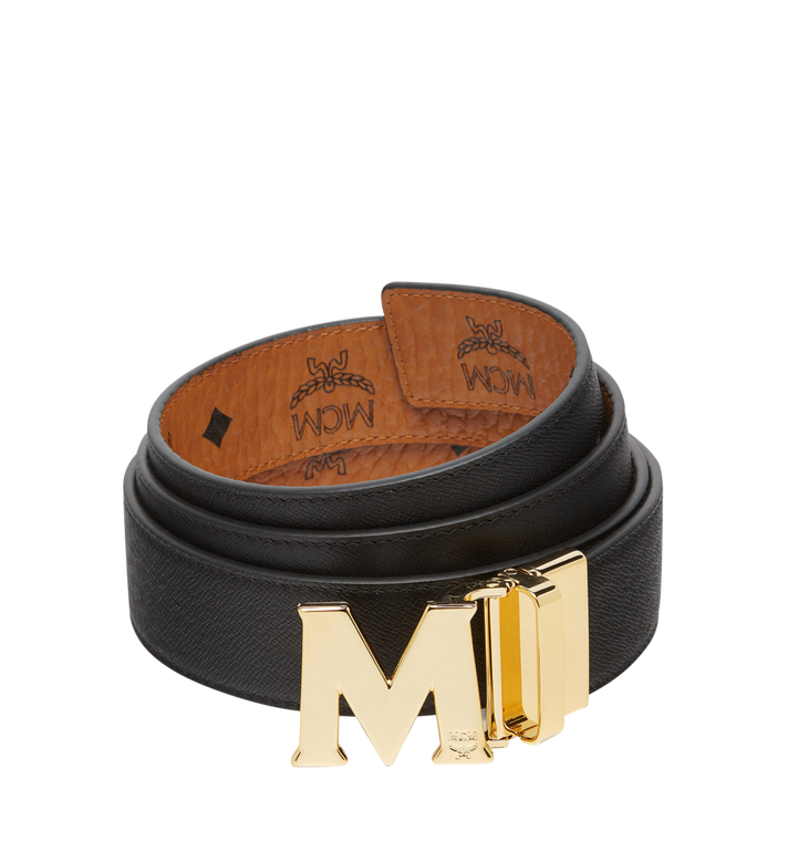 MCM Ceinture amovible Claus M 3,80 cm en Visetos Cognac MXB7AVI05CO001 Alternate View 2