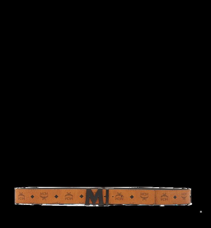MCM Visetos 系列的 Claus M 1.75 吋可翻轉皮帶 Cognac MXB7SVI10CO001 Alternate View 3