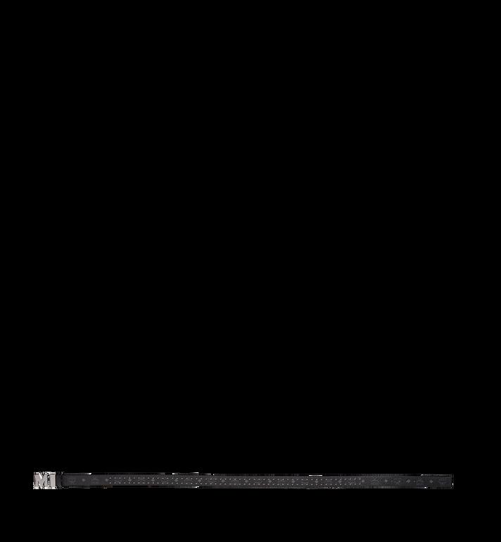 MCM Claus Visetos 帶鉚釘輪廓平面 M 字 1.5 吋腰帶 Black MXB8AMM29BK001 Alternate View 3
