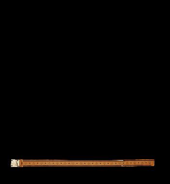 "MCM Claus Flat M Belt 1.5"" in Studded Outline Visetos Alternate View 3"