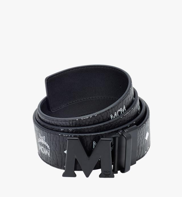 "M Reversible Belt 1.75"" in White Logo Visetos"