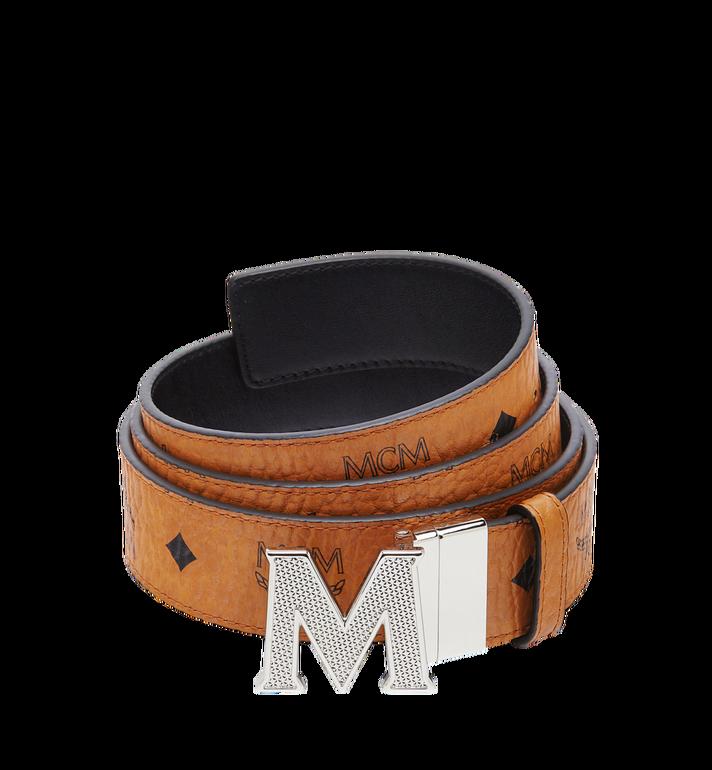 "MCM Claus Textured M Reversible Belt 1.5"" in Visetos Alternate View"