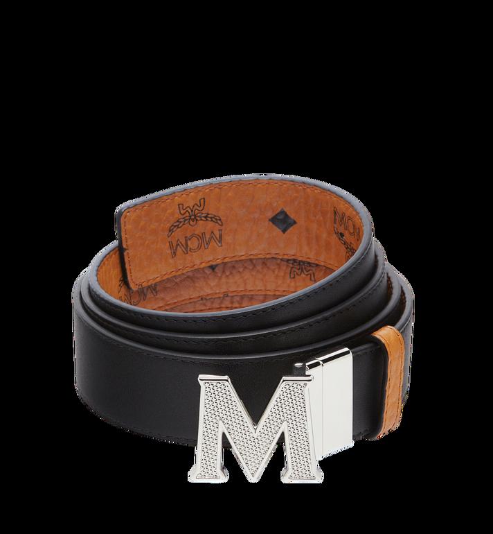 "MCM Claus Textured M Reversible Belt 1.5"" in Visetos Alternate View 2"