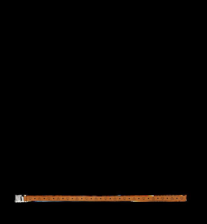 MCM Ceinture amovible ClausM texturée 3,80cm en Visetos Cognac MXB8SVI21CO001 Alternate View 3