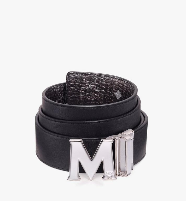 MCM Claus Flat M Reversible Belt in Visetos Silver MXB9AVI03SV001 Alternate View 2