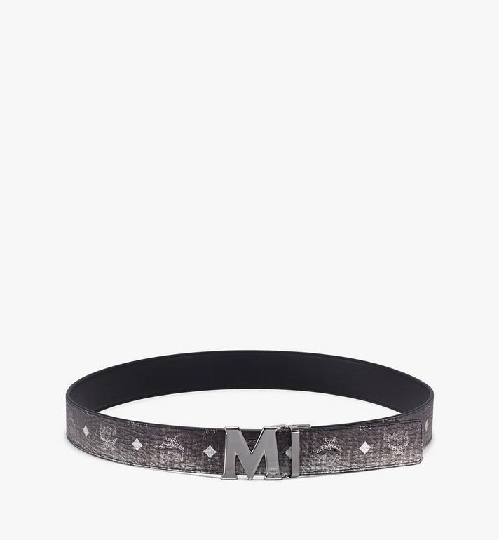 MCM Claus Flat M Reversible Belt in Visetos Silver MXB9AVI03SV001 Alternate View 3
