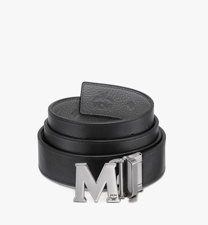 "MCM Claus M Reversible Belt 1.5"" in Monogram Leather Grey MXB9AVI17FK001 Alternate View 2"