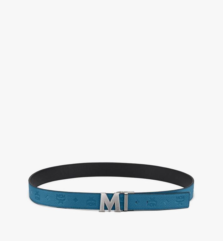 MCM 花押字圖案 Claus M 1.5 吋可翻轉使用皮帶 Blue MXB9AVI17JF001 Alternate View 3