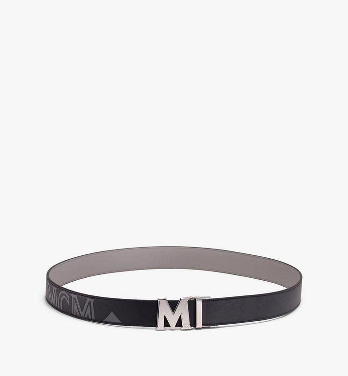 MCM Claus Flat M Reversible Belt in Visetos Black MXB9AVI46BK001 Alternate View 3
