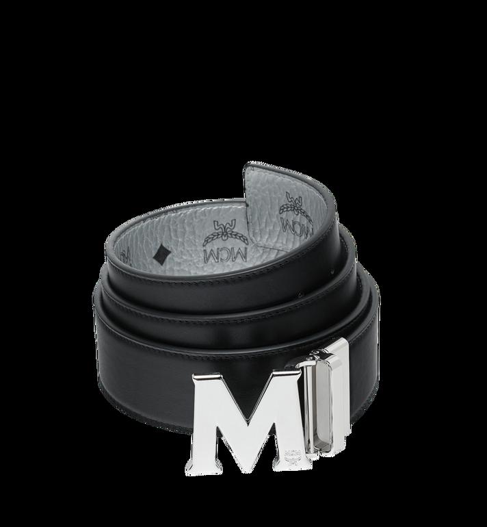 MCM M Wendegürtel 4,4 cm mit Visetos-Logo in Weiss Alternate View 2