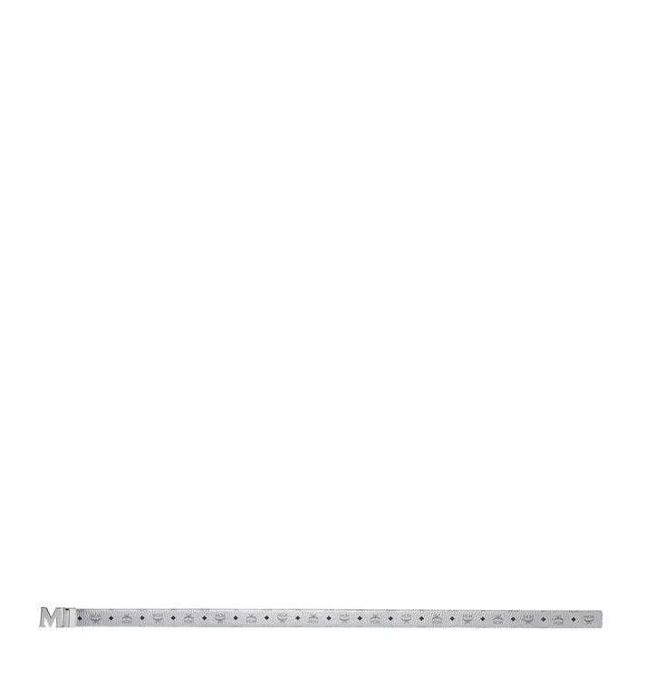 MCM M Wendegürtel 4,4 cm mit Visetos-Logo in Weiss Alternate View 3