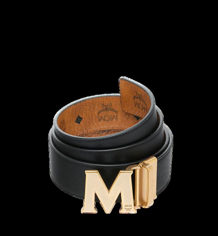 MCM Antique M Reversible Belt 4.5 cm in Visetos Cognac MXB9SVI11CO001 Alternate View 2