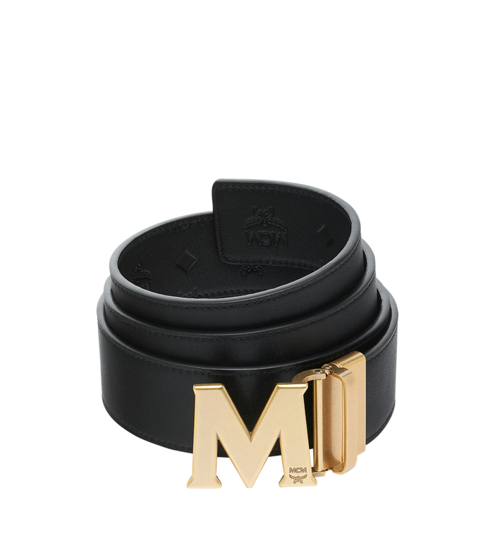 MCM Claus Antique M Reversible Belt Black MXB9SVI18BK001 Alternate View 2