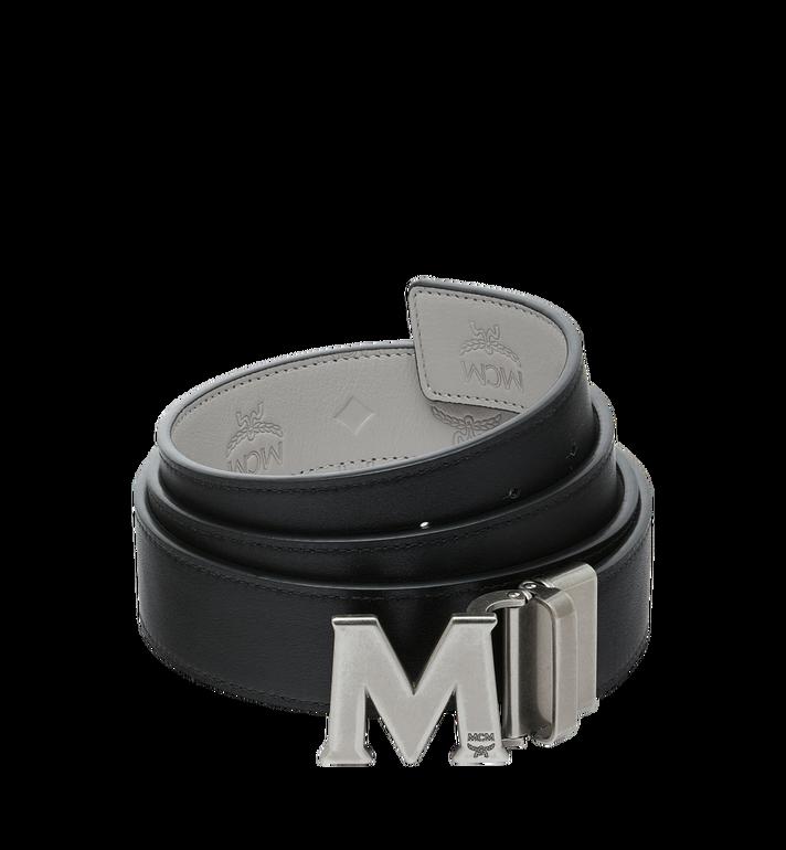 "MCM Claus Antique M Reversible Belt 1"" in Leather Grey MXB9SVI23IV001 Alternate View 2"