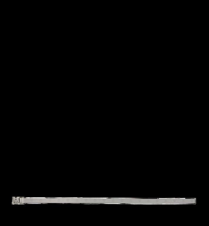 "MCM Claus Antique M Reversible Belt 1"" in Leather Grey MXB9SVI23IV001 Alternate View 3"