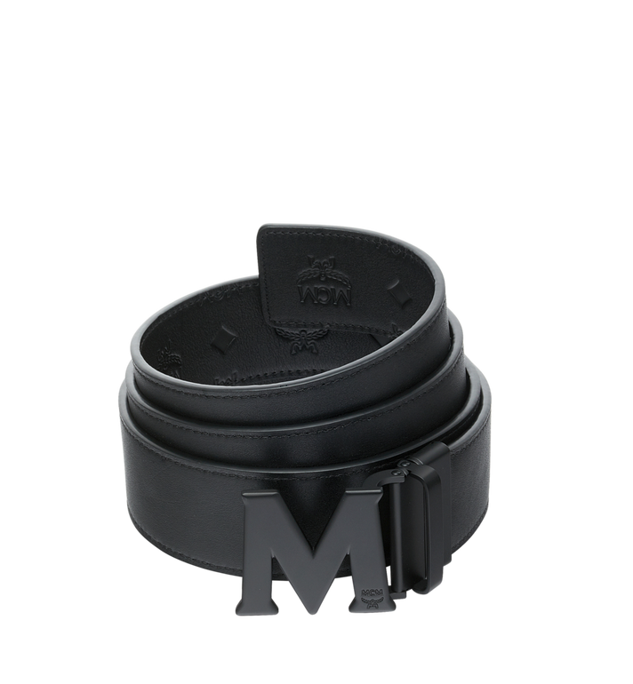 "MCM Claus Flat M Reversible Belt 1.75"" in Leather Black MXB9SVI24BK001 Alternate View 2"