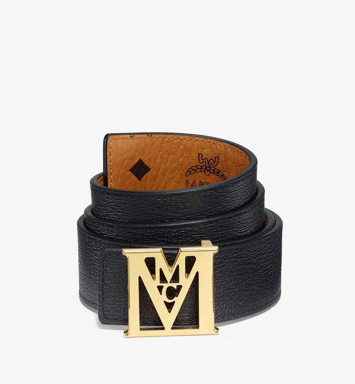 "MCM Mena M Reversible Belt 1.5"" in Visetos Cognac MXBAALM02CO110 Alternate View 2"