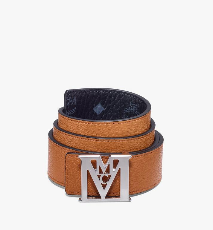 "MCM Mena M Reversible Belt 1.5"" in Visetos Black MXBAALM03BK100 Alternate View 2"