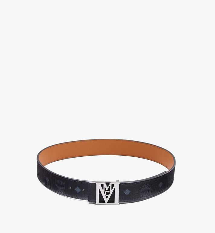 "MCM Mena M Reversible Belt 1.5"" in Visetos Black MXBAALM03BK100 Alternate View 3"