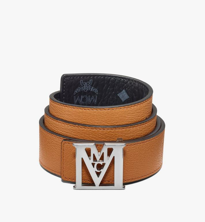 "MCM Mena M Reversible Belt 1.5"" in Visetos Black MXBAALM04BK110 Alternate View 2"